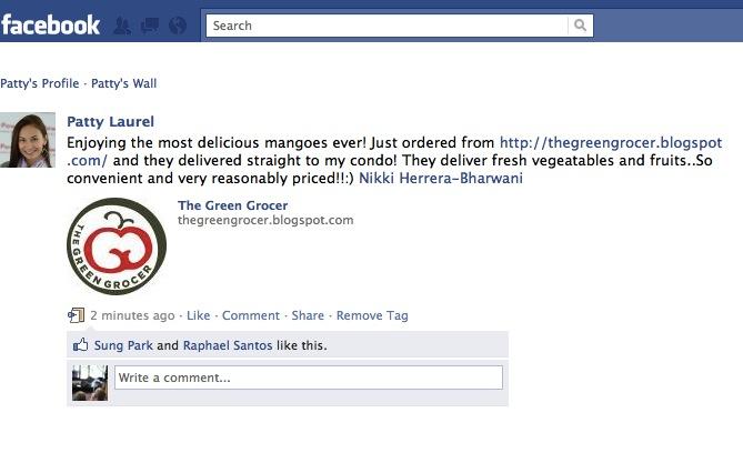 2011 May 12 - FB - Patty Laurel Status